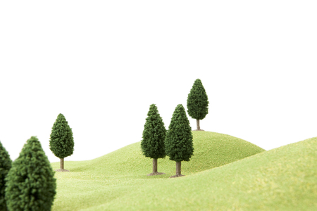 scaled down: Grass and trees