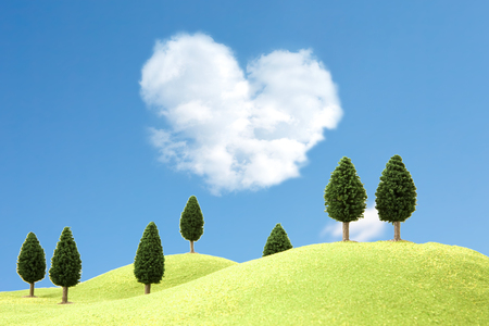 heartshaped: Heartshaped clouds