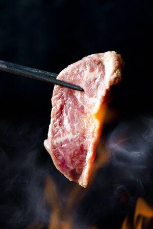 roast meat: Beef skirt steak