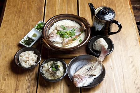 Sea bream rice Stock Photo