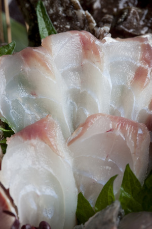 stonefish: Sashimi of stonefish Stock Photo