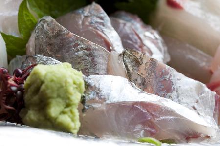 caballo bebe: Sashimi of horse mackerel