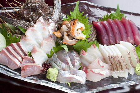 stonefish: Sashimi platter