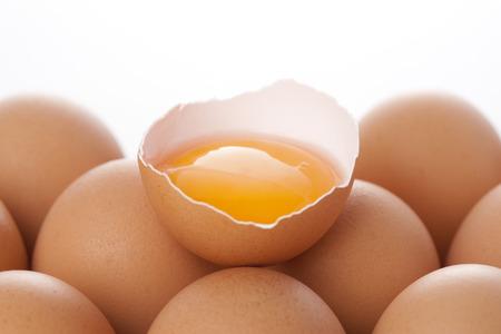 Egg yolk Standard-Bild