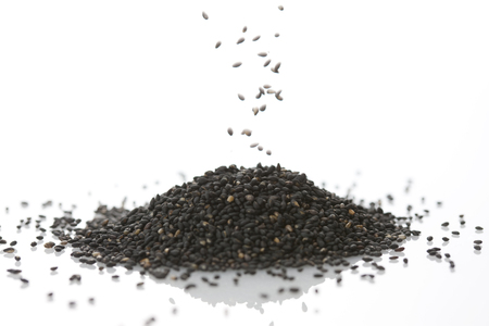 Black sesame seeds 版權商用圖片