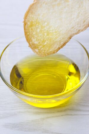frans brood: French bread and olive oil Stockfoto