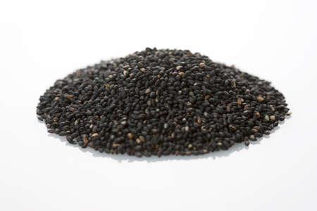 ajonjol�: Black sesame seeds Foto de archivo