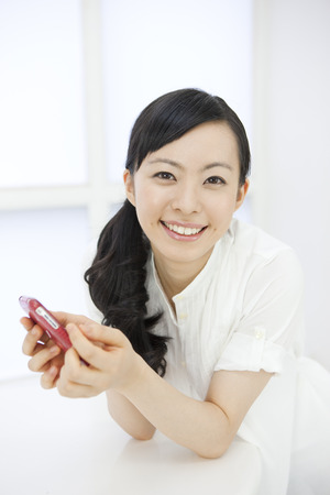 Women to take the Smartphone Stock Photo - 46409707
