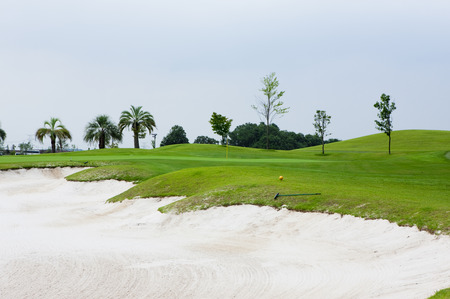 golfcourse: Bunker Stock Photo