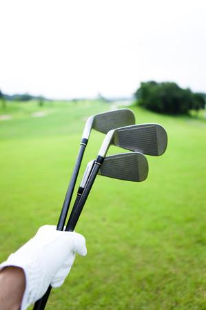 Men with a golf club