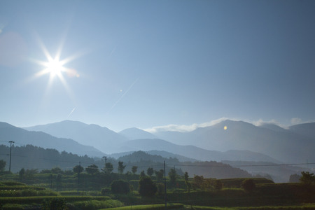 amanecer: Una escena de la Magome