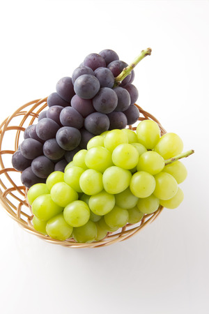 Kyoho grapes and Muscat Stock Photo