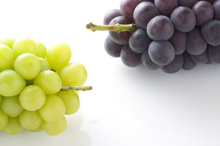 muscat: Kyoho grapes and Muscat Stock Photo