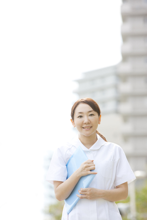 gratification: Nurses face file Stock Photo