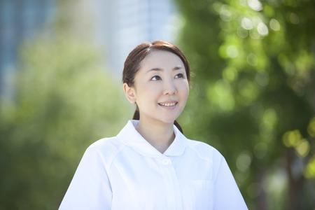 house robe: Nurse