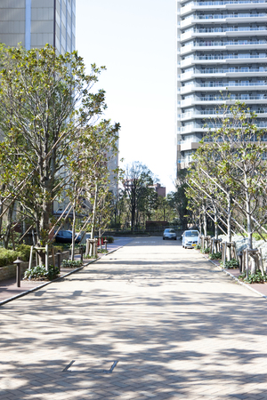 kanagawa: Sidewalk of the station
