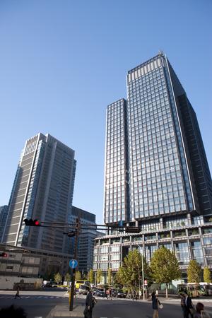 shin: Shin Marunouchi Building and Marunouchi Building Stock Photo
