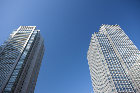shin: Shin Marunouchi Building and Marunouchi Building Stock Photo