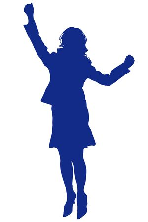 pleasing: Silhouette of a woman to jump