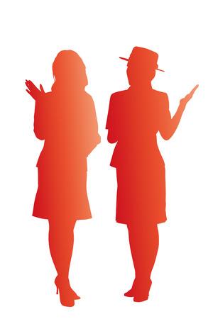 campaign: Campaign girl silhouette