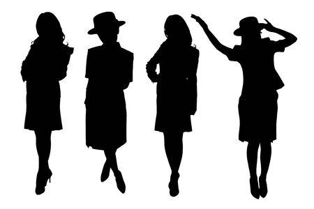 recital: Campaign girl silhouette