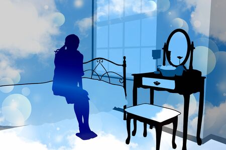 cold room: Woman silhouette