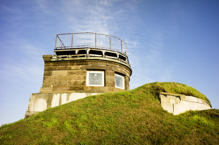 extremity: Large cape old naval watchtower Stock Photo