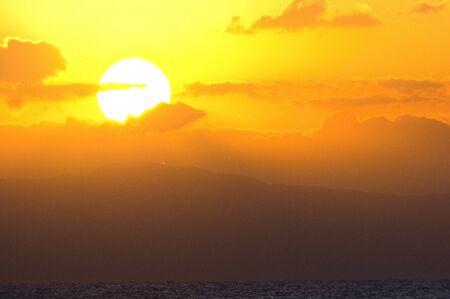 cielo atardecer: Puesta de sol cielo Foto de archivo