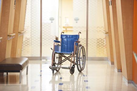 hospitalization: Wheelchair Stock Photo