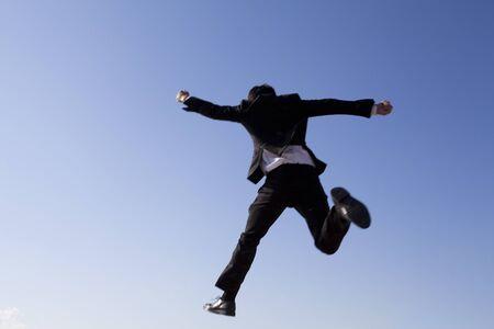 businessman jumping: Businessman jumping