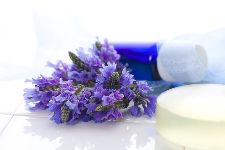 aroma facial: Lavender facial cleansing SOAP with aromatherapy oils