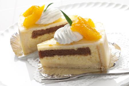 valencia orange: Orange mousse cake