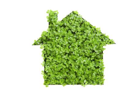 paper cutout: Of paper cutout eco house