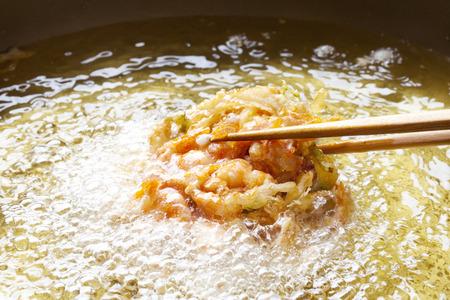 海老の天ぷらと野菜