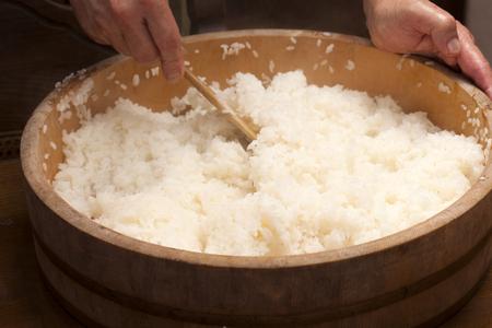 sushi: Sushi rice development Stock Photo