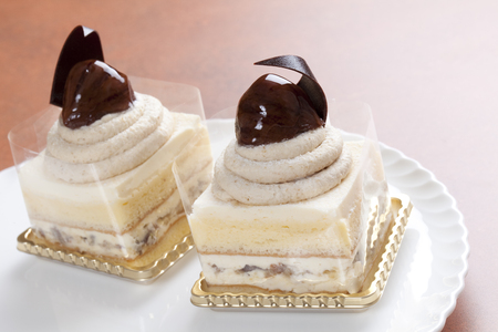 mont: Mont Blanc short cake Stock Photo
