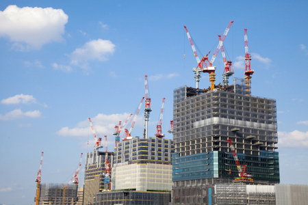 kita: Osaka north yard under construction Stock Photo