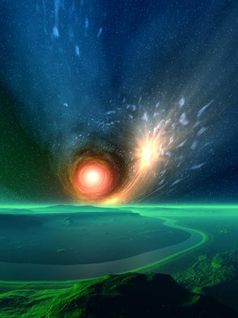 detonation: Green Oasis Stock Photo