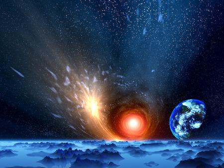 detonation: Quiet world Stock Photo