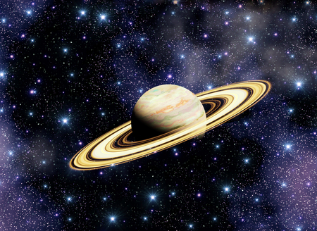 Space galaxy and Saturn