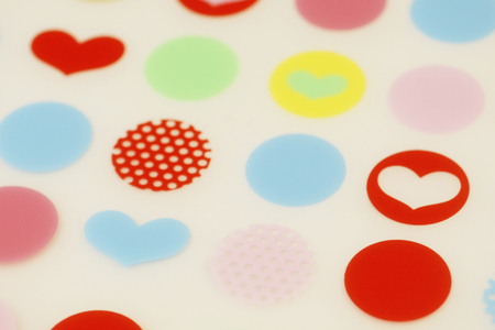 heart suite: Heart and circle patterns