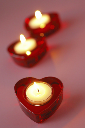 heart suite: Valentines day candle