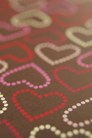 heart suite: Heart pattern paper Stock Photo