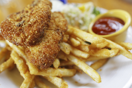fish fry: Fish Fry Stock Photo