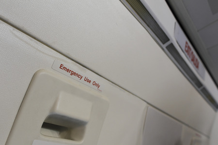emergency exit: Emergency exit of the airplane