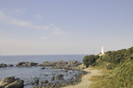 southernmost: Honshu southernmost Shionomisaki lighthouse Stock Photo