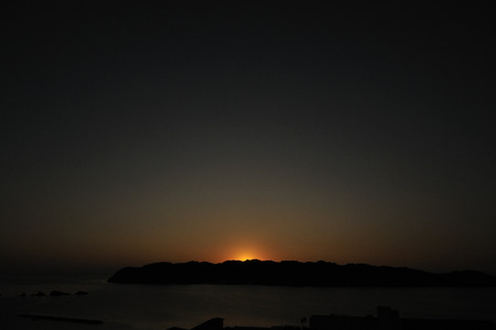 honshu: Before dawn of Honshu southernmost