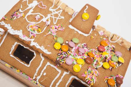casita de dulces: Pasteler�a Foto de archivo