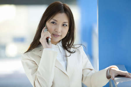 lady on phone: Office lady  talking on a mobile phone