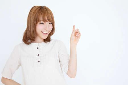 one piece dress: Woman finger